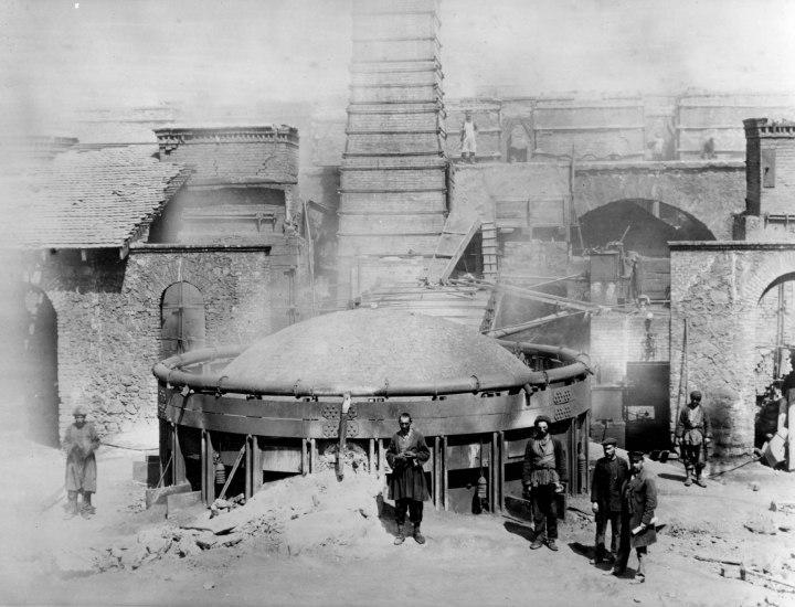 6. smelting works, Kedabeg, ore smelting furnace, 1880